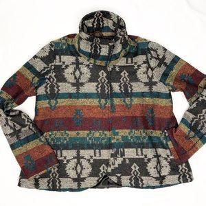 Billabong tribal print jacket size small